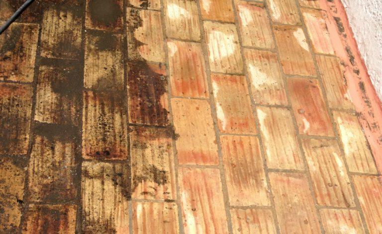 Spraydec Sta Catarina tiles jetwashed